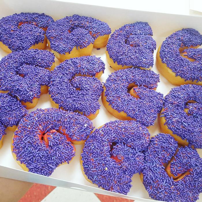 Celebrate letter donuts