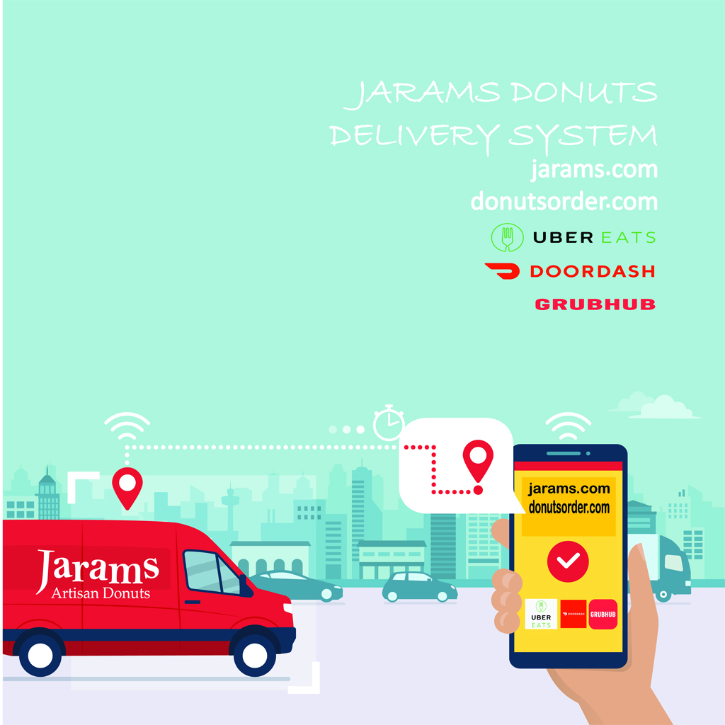 JARAMS DONUTS Donuts delivery WEBSITE