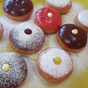 Hanukkah donuts sufganiyot