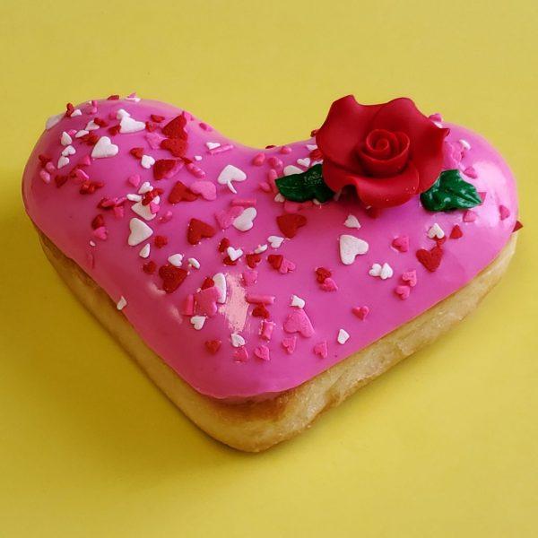 Valentine's day donut