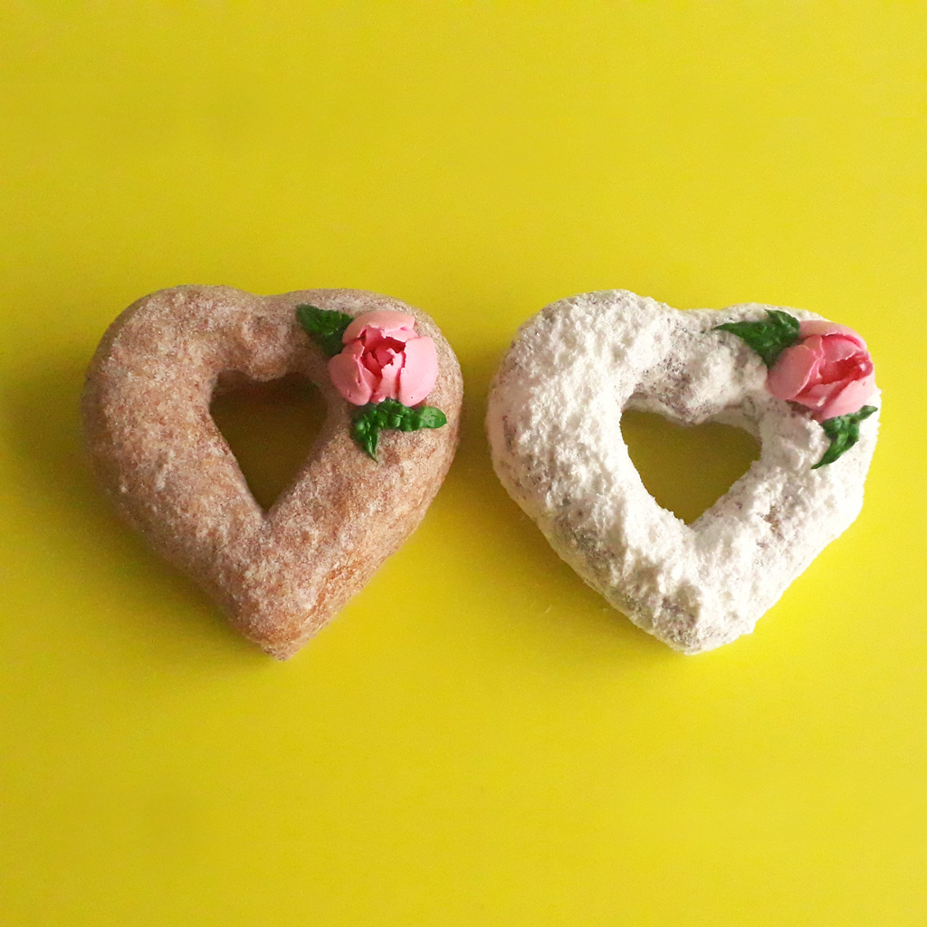 Mother's day Donuts Love shape Croissant Donuts