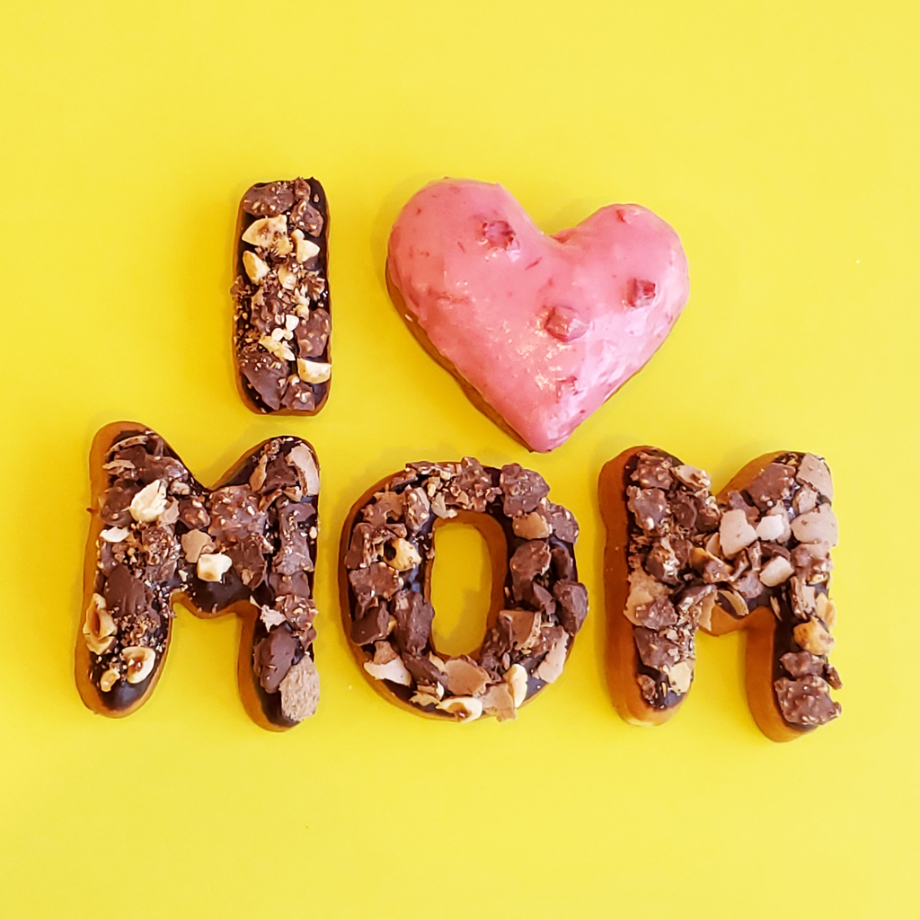 Mother's day donuts letter shape Candy topped